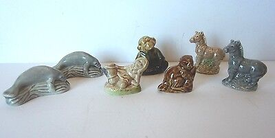 "7 Collectible ""wade""  Miniature Figurines Lot"