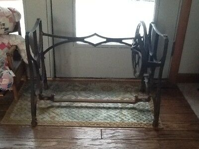 Antique Cast Iron Short White Brand Treadle Sewing Machine Table Stand/Base Legs