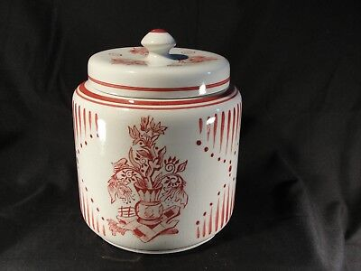 Antique Royal Gouda Goedewaagen Holland Hand Painted Biscuit Jar