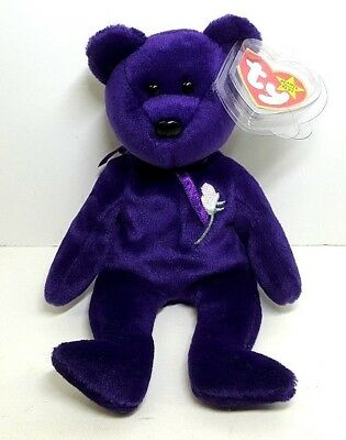 Princess Diana Bear TY Beanie Babies Baby RETIRED 1997 ERRORS RARE