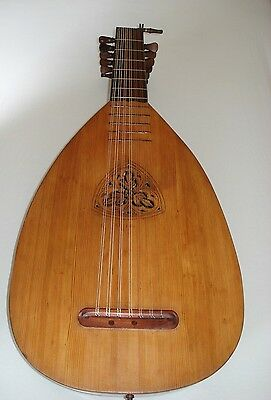 7 cours Renaissance lute from german Masterluthier Albert Roth 1921 ***