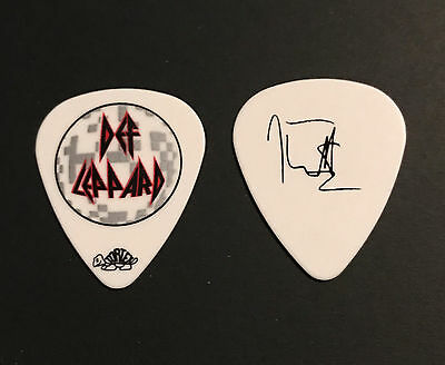 Def Leppard - Joe Elliott 2011 Tour White Guitar Pick Mirrorball