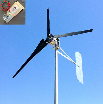 INVISIBLE GHOST WIND turbine HIGH AMP 1100W 10 Clear props W/HP PMA