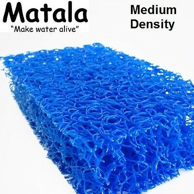 "Blue Matala Full Sheet Filter Mat - 39""x 48"" -Medium Density-koi fish pond-media"