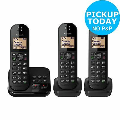 Panasonic KX-TGC423EB Cordless Telephone with Answer Machine - Triple - Argos