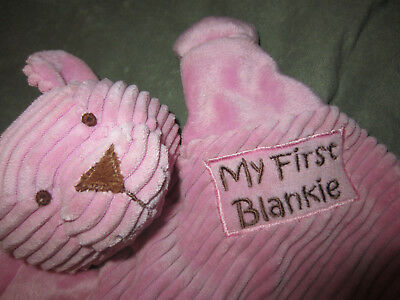 Babies R Us My First Blankie Pink Bear Security Blanket Lovey 2012