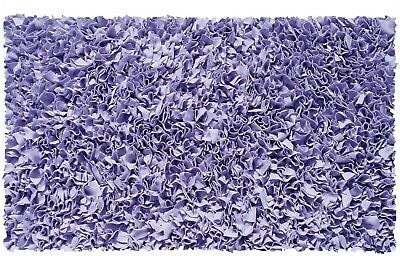 The Rug Market Shaggy Raggy Area Rug Lavender Cotton Jersey Machine Washable