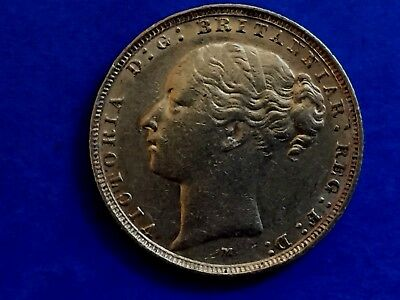 1884 VICTORIA YOUNG HEAD/St GEORGE MELBOURNE MINTED 22ct GOLD SOVEREIGN