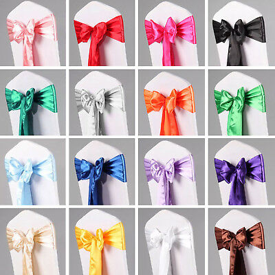 "25/50/100/500 PCS 108""x8"" Satin Chair Sash Bow Ties Wedding Party Banquet Decor"