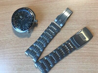 oris herren chrono case and braclet titan for parts or repair