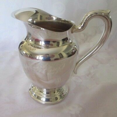ONEIDA SILVER PLATE WATER PITCHER w/ICE GUARD