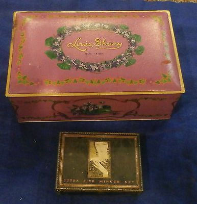 Lot 2 Tins Louis Sherry And Cutex 5 Minute Set Art Deco