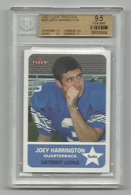 2002 Fleer Tradition Joey Harrington Rc Rookie Bgs 9.5 Gem Mint Oregon Ducks