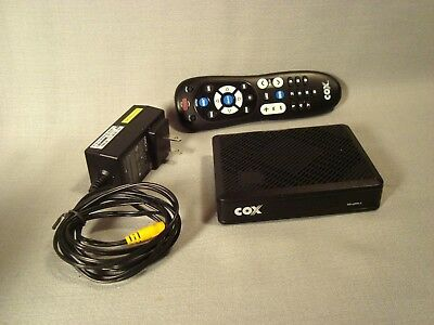 Cox Cable Mini Box Dta 250hd With Remote And Power Adapter 5000