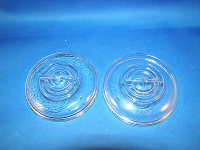 Vintage Canning Jars LIDS Clear Glass Wire Bail Closure Ball Regular Mouth @H