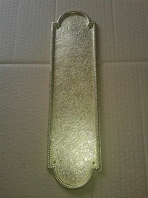Vintage Antique Victorian Edwardian Style Cast Brass Finger Plate Door Push