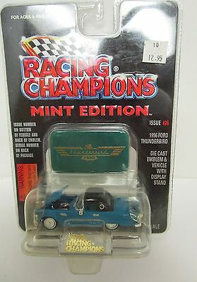 Racing Champions Mint Blue 1956 Thunderbird Diecast Vehickle with Display Stand