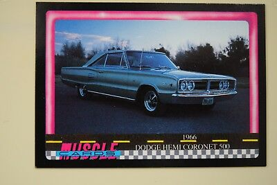 Muscle Cards Series 1 King Of The Hill #86 1966 Dodge Hemi Coronet 500