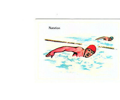 "Image Vignette Ancienne Cartonne "" Bon Point "" Le Sport La Natation"