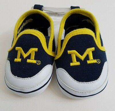 Michigan State Wolverines soft baby shoes 6-9 months NCAA