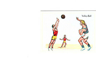 "Image Vignette Ancienne Cartonne "" Bon Point "" Le Sport Le Volley-Ball"