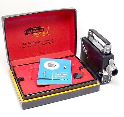Vintage CINE KODAK MAGAZINE 16 16mm MOVIE CAMERA w/ Manual & Presentation Box