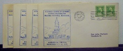 Lot Of 6 May 12 1932 Cache Cover Alexandria Chamber Of Commerce Masonic Memorial
