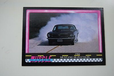 Muscle Cards Series 1 King Of The Hill #82 1966 Ford Mustang 289 Hi Po Coupe