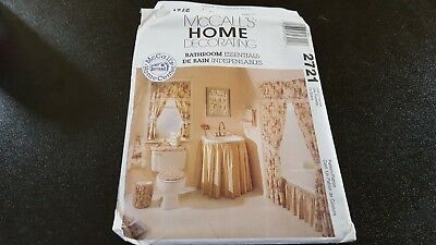 McCall's Pattern 2721 Home Decorating Bathroom Essentials Uncut Factory Folded