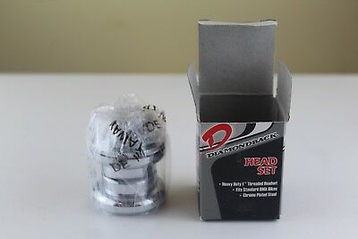 "Diamondback Heavy Duty 1"" Threaded Headset - Chrome Plated Steel, BMX, NOS"