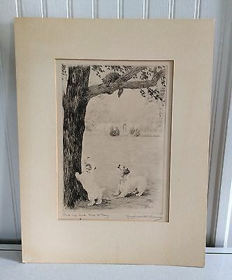 Black & White Etching/Paper by Marguerite Kirmse,signed (Engl. 1885-1954)