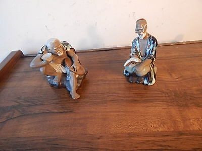 Two Chinese Porcelain Painted Figures Very Good Condition International Sale