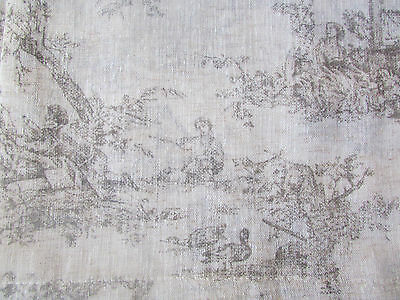 JACLYN LOVE Signature 2 Rod Pocket Panels Curtains TOILE BELGIAN Natural 38x84''