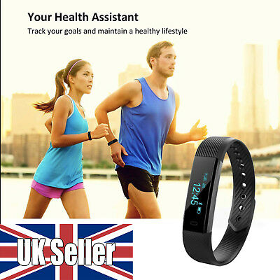 Like FitBit Bluetooth Smart Watch Band Heart Rate Blood Monitor Fitness Tracker