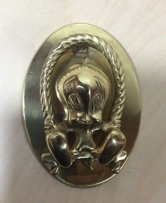 Vintage 1995 TWEETY BIRD~Brass Door Knocker~Warner Bros~Swing~Swinging~Goldtone