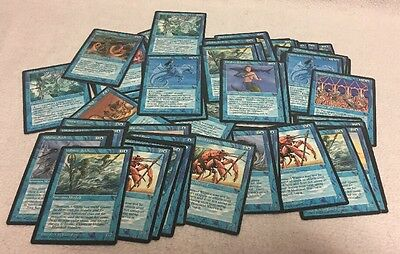 Vintage Magic the Gather MTG Wizard of the Coast WOTC 1994 Lot of 55 Cards Blue