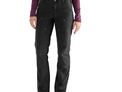 CARHARTT Woman's 102323 Crawford double front work pant BLACK Ret $50 Size 2-16