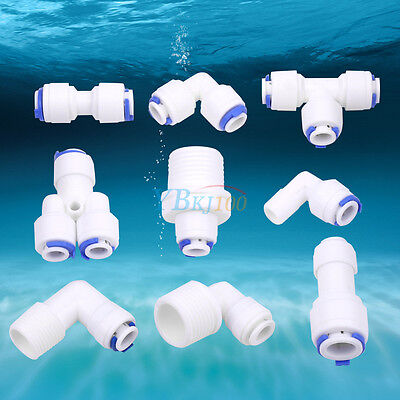 Plastic Hose Pipe Fitting Tube Connector Joiner Silicone Rubber PVC Air Water zg