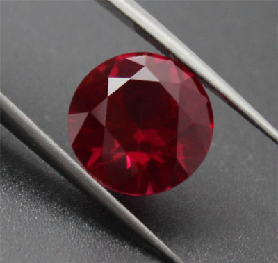 Noble Aaaaa+ Pigeon Blood Red Ruby 8Mm Unheated Round Shape Cut Loose Gem