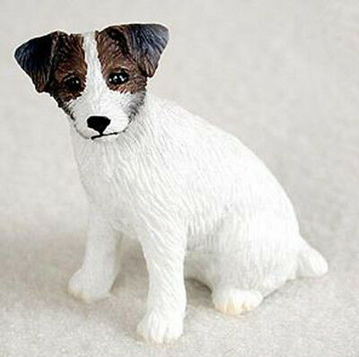 JACK RUSSELL TERRIER ROUGH BROWN TINY ONES DOG Figurine Statue Pet Lovers Resin