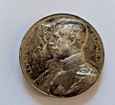 1914 WWI Belgian Gratitude Medal King Albert Queen Elisabeth EXTREMELY RARE