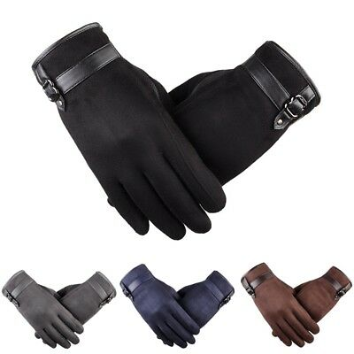 Men Gloves Business Driving Glove Winter Full Finger Hand Warmer Touch Screen