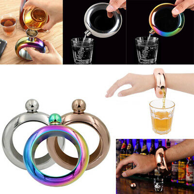 3.5oz Booze Smuggle Bracelet Bangle Flask Alcohol Drink Festival Jewellery