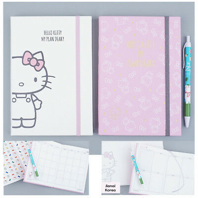 2018 New Hello Kitty Diary Schedule Monthly Weekly Book Note Calendar Planner