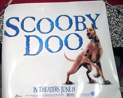 Scooby Doo Promo Movie Poster 2002 RARE Window Slick UNUSED Shaggy Daphne Velma