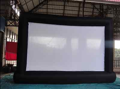 New 7*4m Giant Inflatable Movie Screen, Outdoor Inflatable Screen With Blower mt