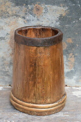 Antique Victorian Pine Butter Churn old vintage country kitchen farmhouse pot