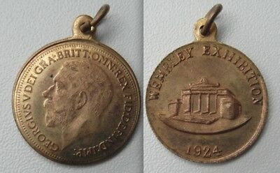 Collectable 1924 King George V Wembley Exhibition Medal - With Loop