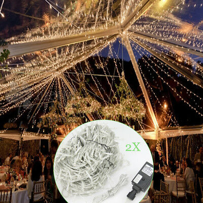 2X Warm White 500 LED 100M Fairy String Lights for Christmas Cafe Party Wedding