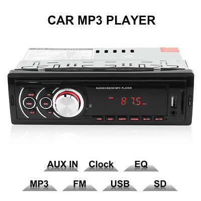 Car Autoradio 1 DIN LED Stereo MP3/USB/SD/AUX-IN FM Radio Player Amplifier 12V